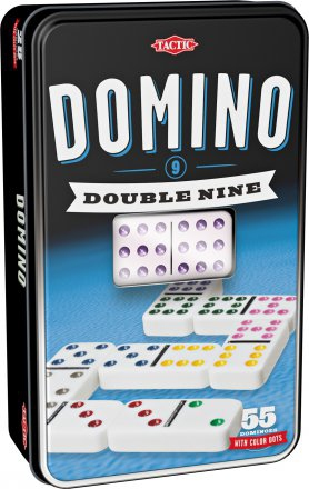 Domino Double 9 Colorés pas cher