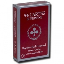 54 cartes Grimaud - Rouge
