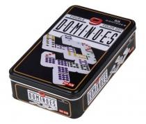 55 Dominos Double 9 Boite Métal Couleurs