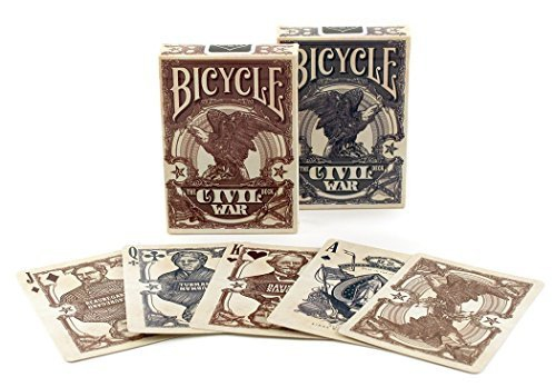 Bicycle Civil War - 54 cartes - Dos Rouge ou Bleu