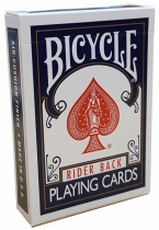 Bicycle Rider Back - 54 cartes - Bleu ou Rouge