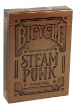 Bicycle SteamPunk by theoryll - 54 cartes - Étui couleur bronze