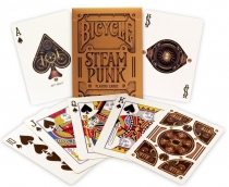 Bicycle SteamPunk by theoryll - 54 cartes - Étui couleur cuivre