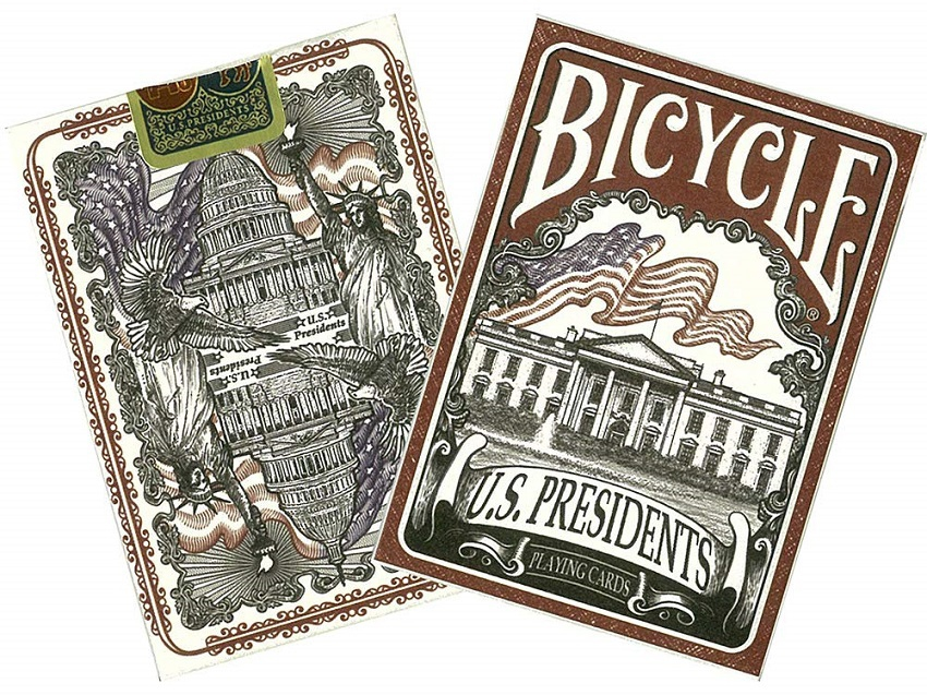 Bicycle US Presidents - 54 cartes - Dos Rouge ou Bleu