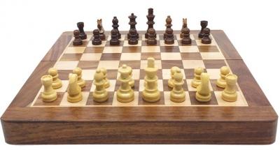 Jeu d'échecs pliable magnétique - 25 cm