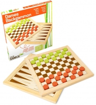 Dames - Backgammon (Bambou)