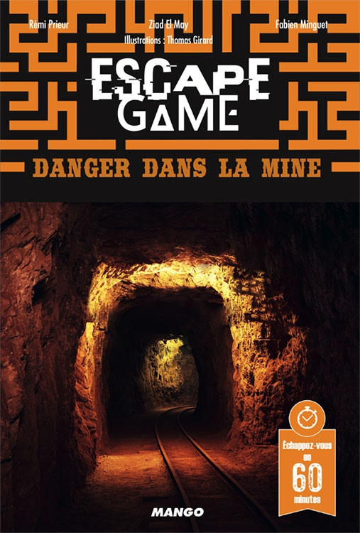 Danger dans la Mine - Escape Game Book