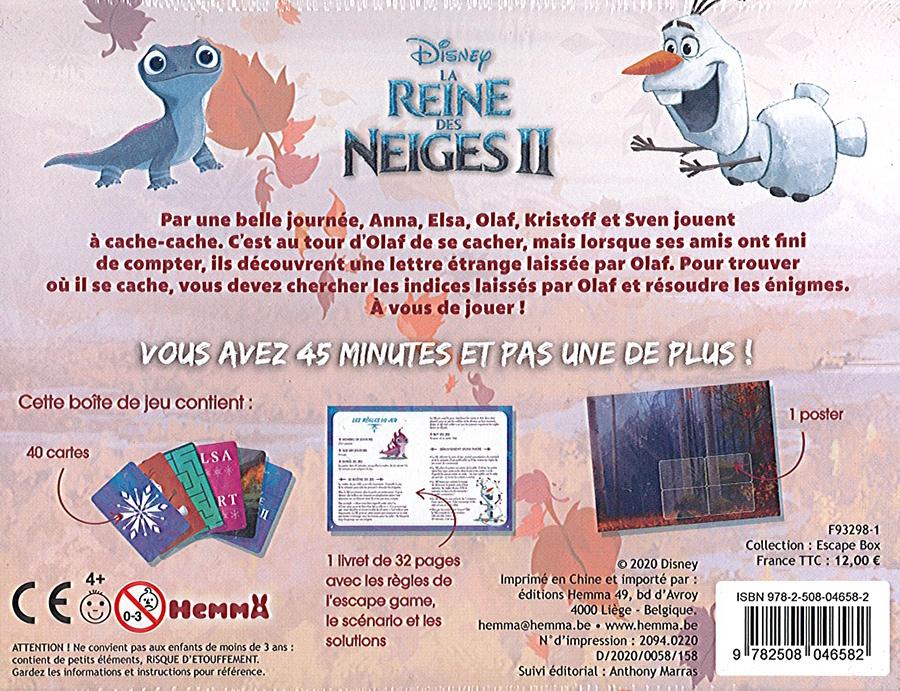 Escape Box (Reine des Neiges II) : Mystère à Arendelle (Junior)