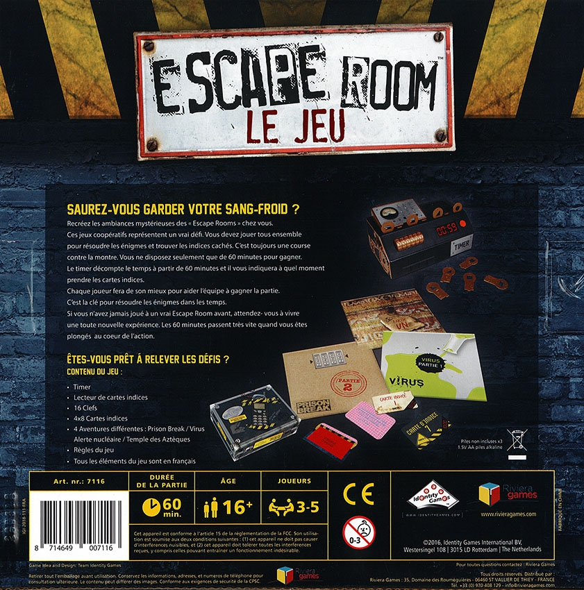 escape room le jeu 4 aventures escape game boutique esprit jeu. Black Bedroom Furniture Sets. Home Design Ideas