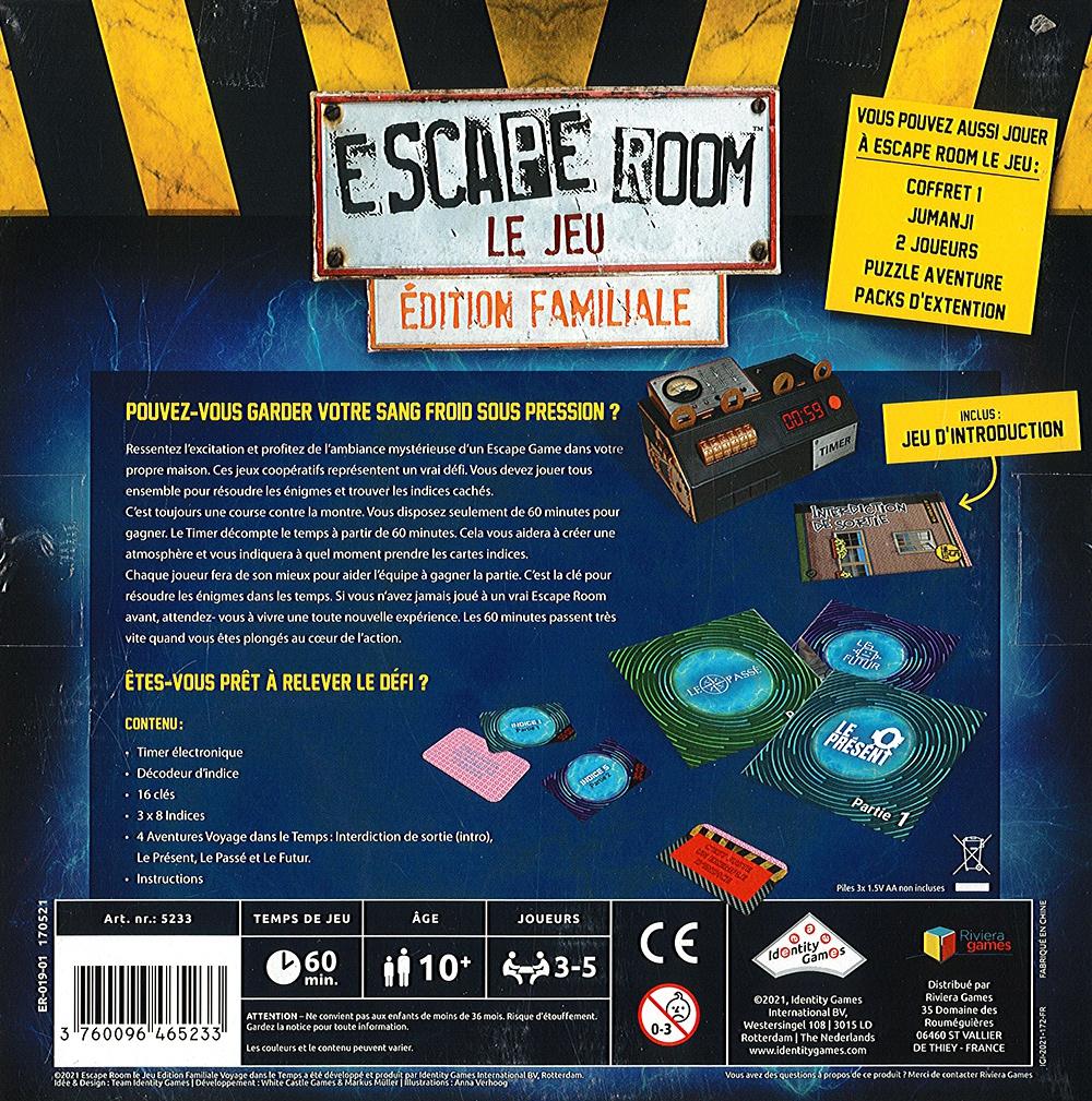 Escape Room - Le Jeu - Le Voyage dans le Temps