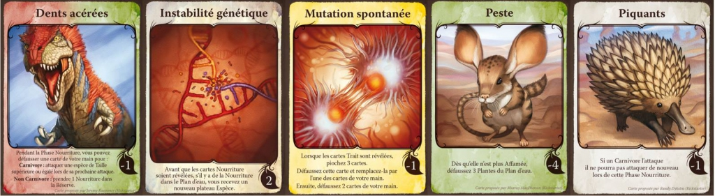 Evolution - Pack de Cartes Trait