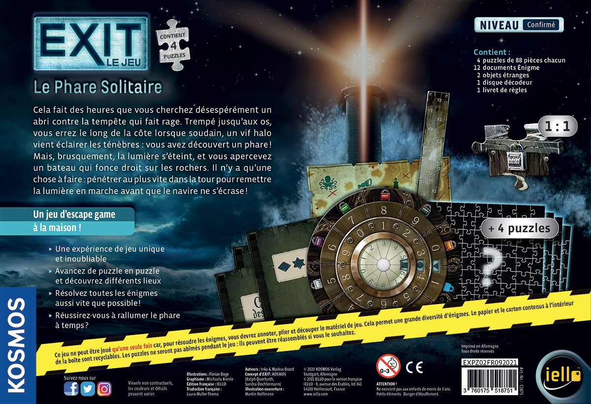 Exit Le Jeu - Le Phare Solitaire (4 Puzzles)