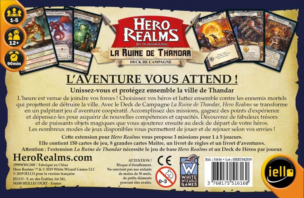 Hero Realms : La Ruine de Thandar Campagne