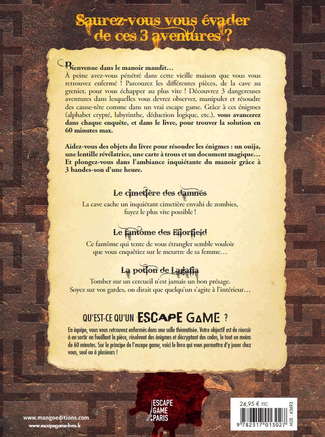 Le Manoir Maudit - Escape Game Book
