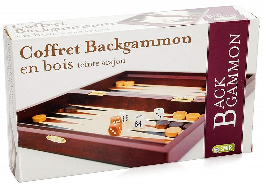 Mallette Backgammon teinté Acajou
