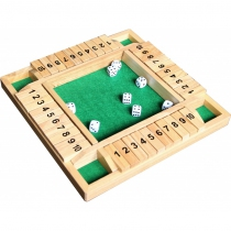 Shut The Box 10 en bois 4 joueurs