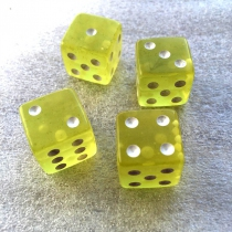 Tumblin Dice - Sac 4 dés Jaunes et 4 Orange