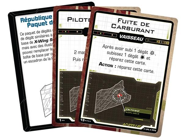 X-Wing 2.0 : Paquet de Dégâts République Galactique