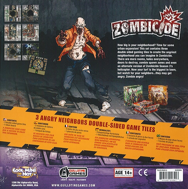 angry neighbors game tiles zombicide acheter sur. Black Bedroom Furniture Sets. Home Design Ideas