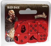 Zombicide - Black Plague : Set de Dés Rouge